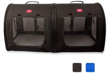 One for Pets Portable 2-in-1 Double Pet Kennel