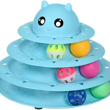 UPSKY Cat Toy Roller 3-Level Turntable