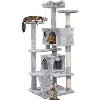 YAHEETECH 54.5-Inch Cat Condo