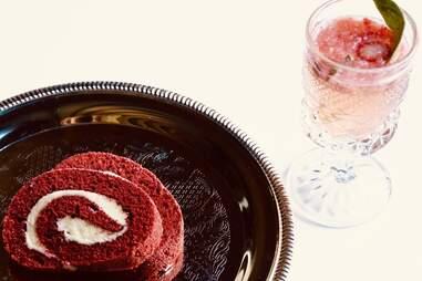 Ramen red velvet cake roll by ra harlem