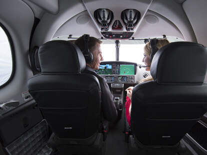 couple in cockpit