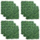 TOPNEW 12PCS Artificial Boxwood Topiary Hedge Plant UV Protection