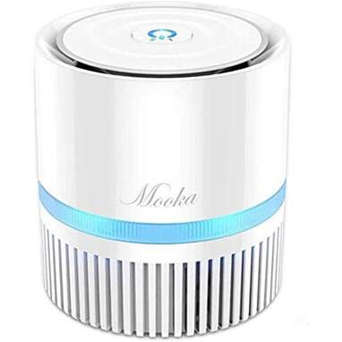 MOOKA Air Purifier for Home, 3-in-1 True HEPA Filter