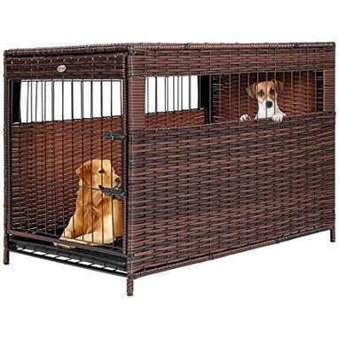 Rattan Wicker Dog Crate