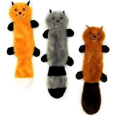 JoyToy Small Dog Toys 3 Pack - No Stuffing