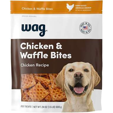 Wag Treats, Chicken and Waffle Bites (1.5-Pound Bag)