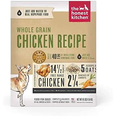 The Honest Kitchen Human Grade Dehydrated Whole Grain Dog Food (Makes 40 Pounds)