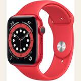 New AppleWatch Series 6 (GPS, 44mm) - RED - Aluminum Case with Sport Band