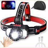 Cobiz 2021 LED Headlamp Flashlight 1000 Lumen Multifunctional-Rechargeable Work Light with Button & Motion Mode