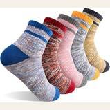 FEIDEER Multi-pack Outdoor Recreation Socks Moisture Wicking Crew Socks (Women's)