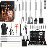Birald Grill Set - BBQ Grilling Tools Set, 34PCS Stainless Steel Grill Accessories with Aluminum Case