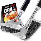 """AJIJING Grill Brush and Scraper, 2 Pack BBQ Grill Cleaning Brush, 18"""""""