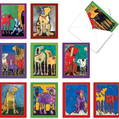 The Best Card Company Blank Dog Greeting Cards