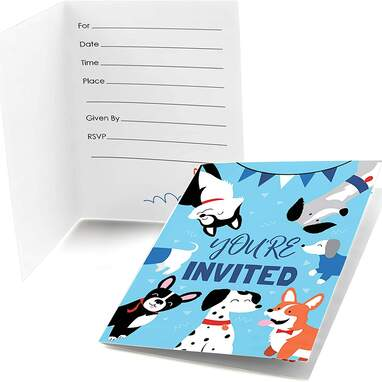 Big Dot of Happiness Pawty Like a Puppy Invitations
