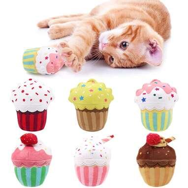 CiyvoLyeen Cupcake Cat Toys