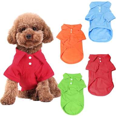 KINGMAS 4-Pack Dog Shirts