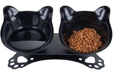 Pantula Tilted Cat Food Bowls