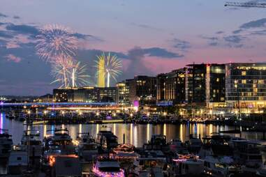 The Wharf fireworks