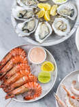 seafood platter with lobster and oysters