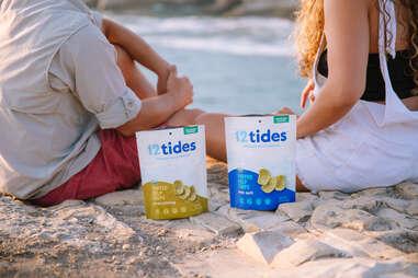 12 tides puffed kelp snacks seaweed seafood ocean eating