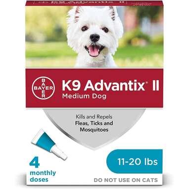 K9 Advantix II Flea and Tick Prevention For Medium Dogs