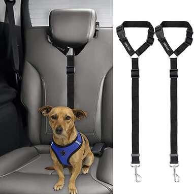 Bwogue 2 Pack Dog/Cat Safety Seat Belt