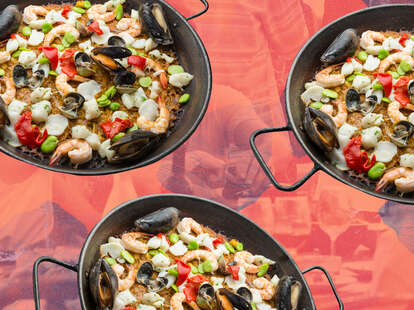 seafood paella weekend project recipe