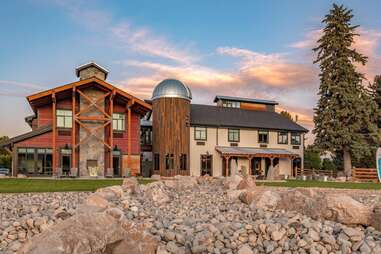 a hotel with an observatory