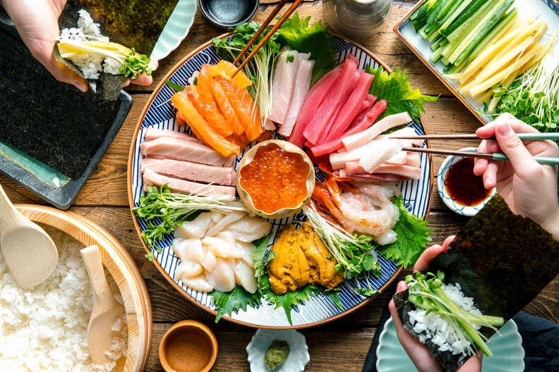 temaki sushi party