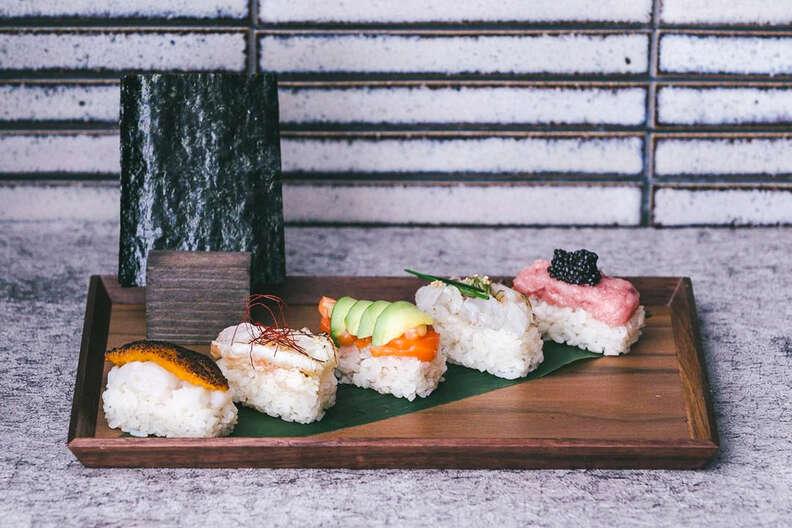 hand roll sushi at Maki Kosaka