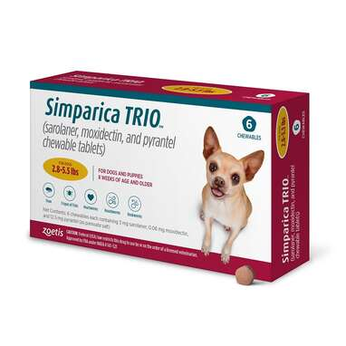 SIMPARICA TRIO Chewable Tablet for Dogs