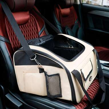 Airline Approved Pettom Pet Car Booster Seat Carrier