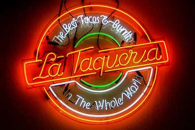 La Taqueria sign
