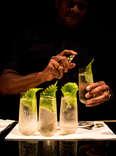 Bartender making a Japanese highball