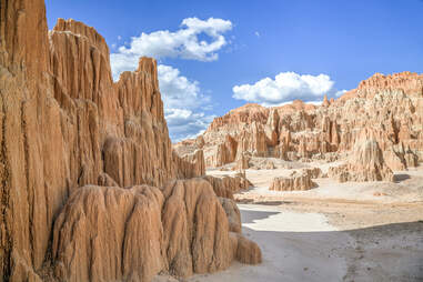 Landscape with rock formations in desert, Cathedral Gorge, Utah, USA