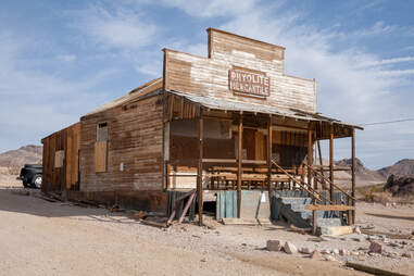 Abandoned shop in desert ghost town