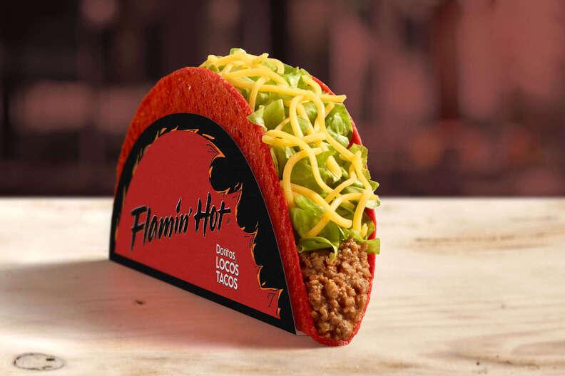 flamin' hot doritos locos taco
