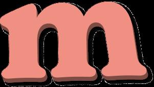 Draggable letter m1