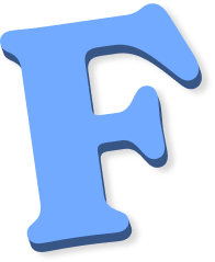 Draggable letter f