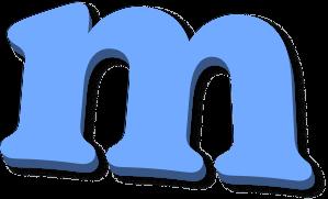 Draggable letter m2