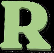 Draggable letter r