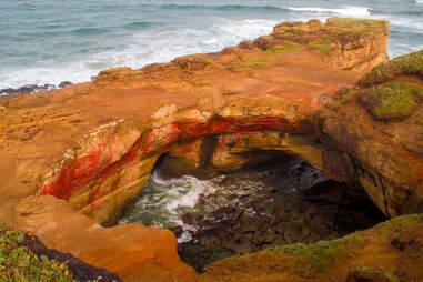 an ocean cove