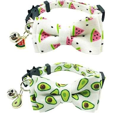 ADOGGYGO Breakaway Fruits & Veg Cat Collar