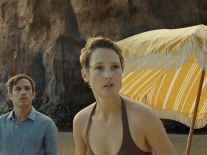 vicky krieps and gael garcia bernal in old, the new m. knight shyamalan movie