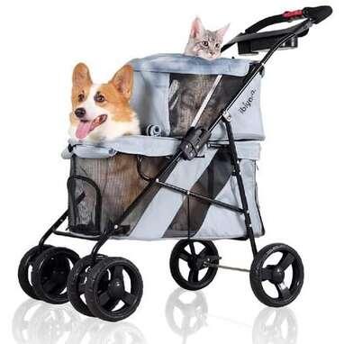 Ibiyaya Double Pet Stroller