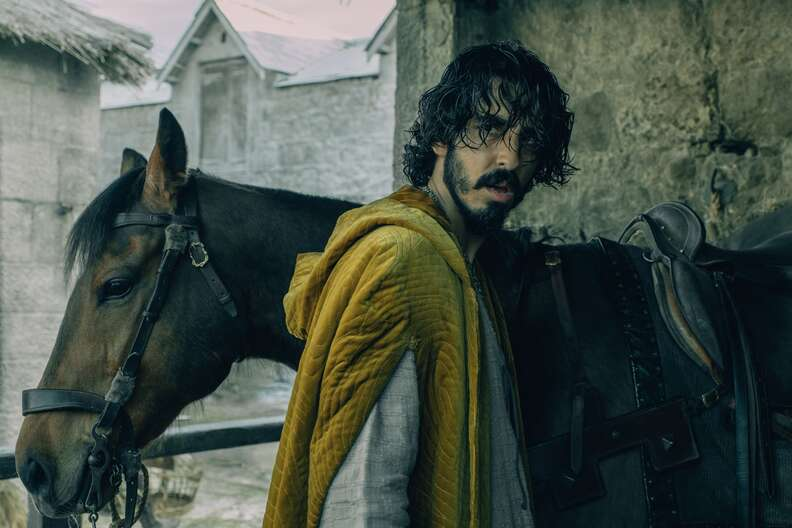 the green knight, dev patel and horse