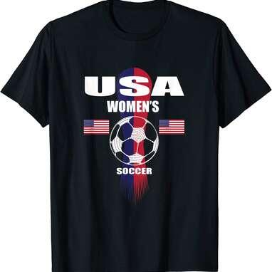 Women Soccer Team USA T-Shirt