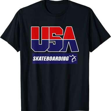 Skateboarding 2021 USA T-Shirt