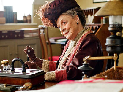 downton abbey, maggie smith, countess dowager