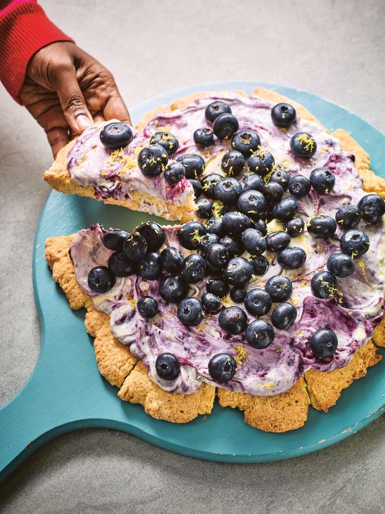 Blueberry and Lavender Scone Pizza